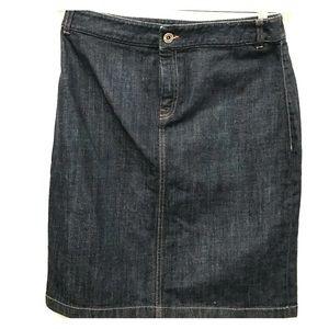 Slim denim pencil skirt from Banana Republic